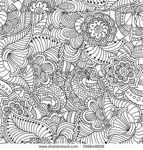 doodle background seamless floral doodle background pattern vector stock