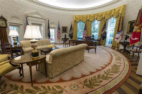 the oval office spot the change in president trump s oval office the atlantic