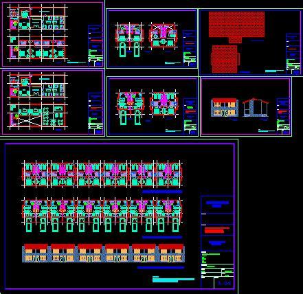 set  villas  dwg design block  autocad designs cad
