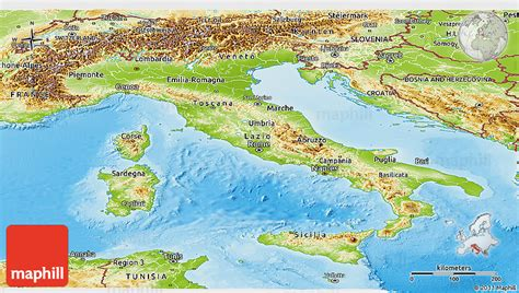 geographical map of italy physical geography of italy images
