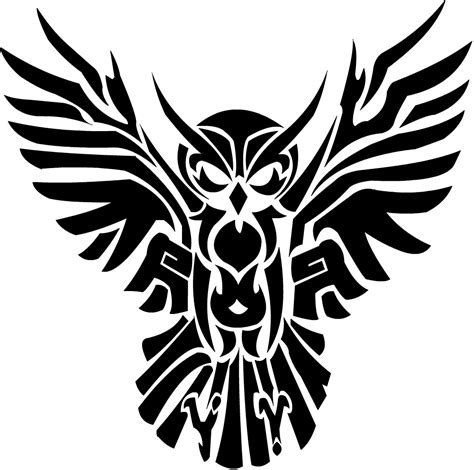stylized tattoo designs black tribal flying owl design celtic tattoos
