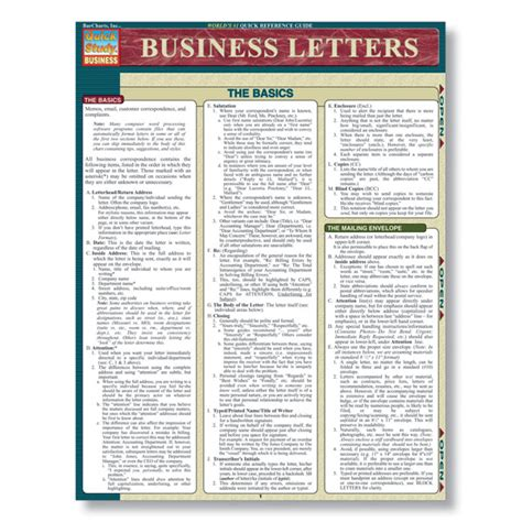Business Letter Guide Business Letter Writing Reference Guide