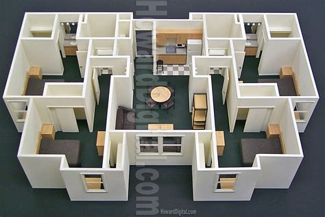 model houses to build floor lay out foam board model building modeling