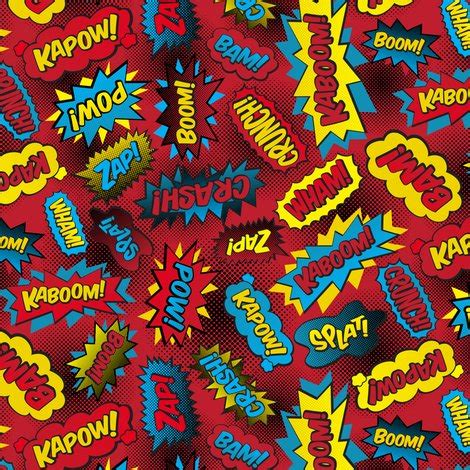 super words! (small red) fabric robyriker spoonflower