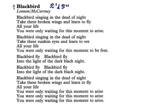 blackbird lyrics beyond the lights paul mccartney the greatest genius of 20th century
