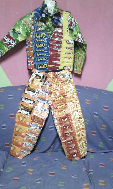 Traje Xe Reciclado | traje de material reciclado reciclado pinterest