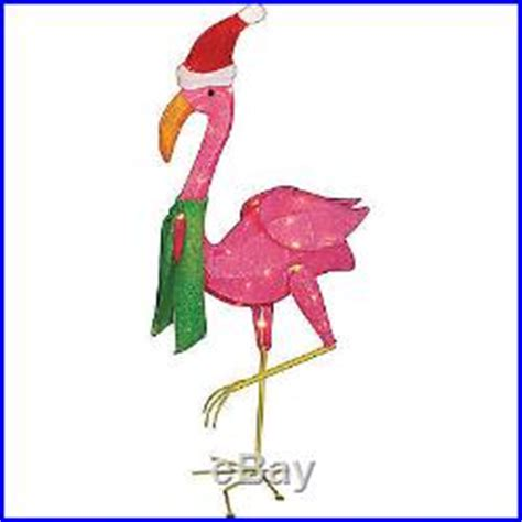 outdoor indoor christmas decoration 32 lighted flamingo