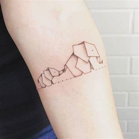 Paper Elephant Tattoo | 66 meaningful elephant tattoo designs