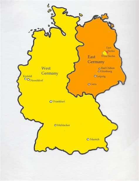 germany divided map dreaming in german map of divided germany