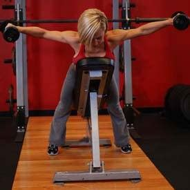 bent over lateral raises on incline bench dumbbell lying rear lateral raise exercise guide and video
