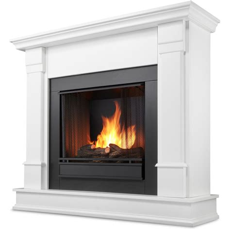 Real Flame Silverton 48 Inch Gel Fireplace   White   G8600