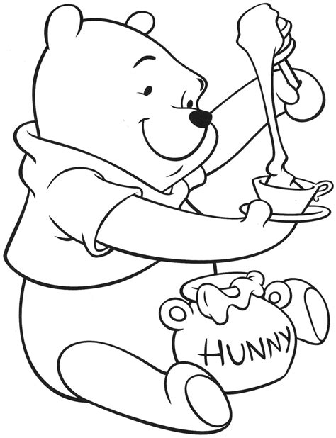 printable coloring pages winnie the pooh winnie the pooh coloring pages printable invitation 14660