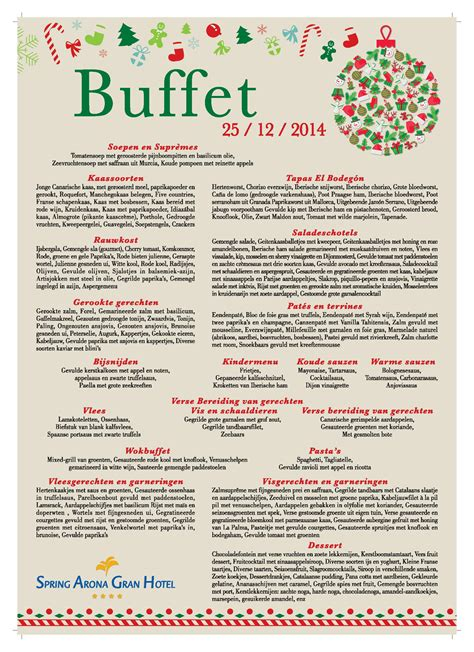 Xmas Buffett Dinner New Year S Eve Menu Of Spring Arona Casino Buffet Menu
