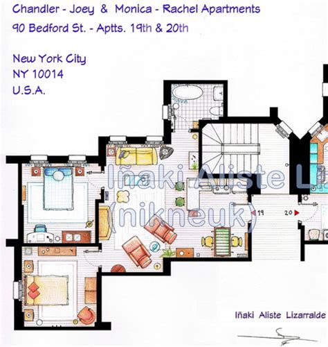 Apartment Layouts From Tv Shows Inaki Aliste Lizarralde S Blueprints To Tv Show Homes Core77