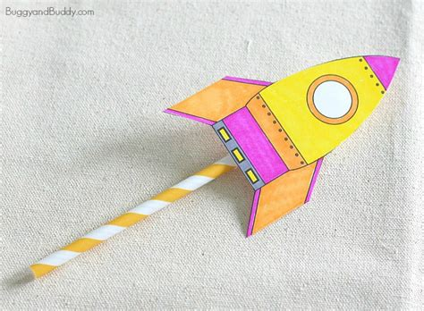 Air Rocket Template by Straw Rockets With Free Rocket Template Buggy And Buddy