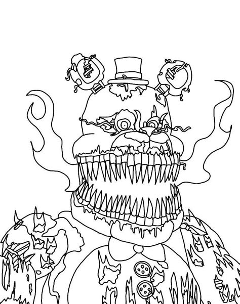 Fnaf 1 Coloring Pages by Springtrap Free Colouring Pages