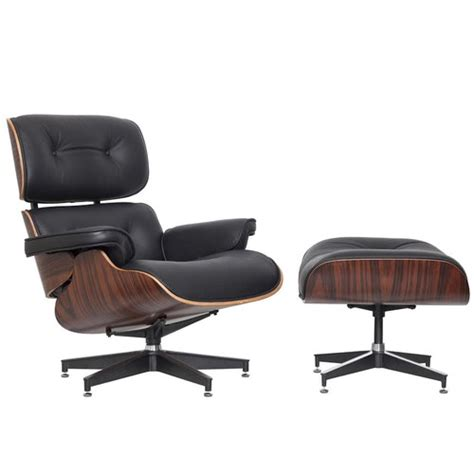 eames chair and ottoman replica milan direct eames premium leather replica lounge chair