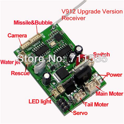 circuit board parts v912 16 new upgrade version receiver board mainboard