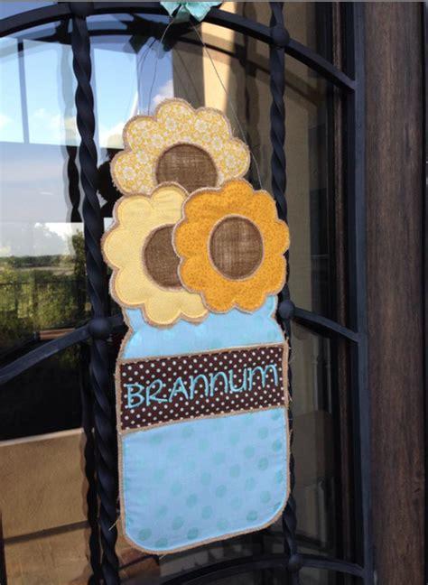 trendy applique  embroidery designs sunflower door