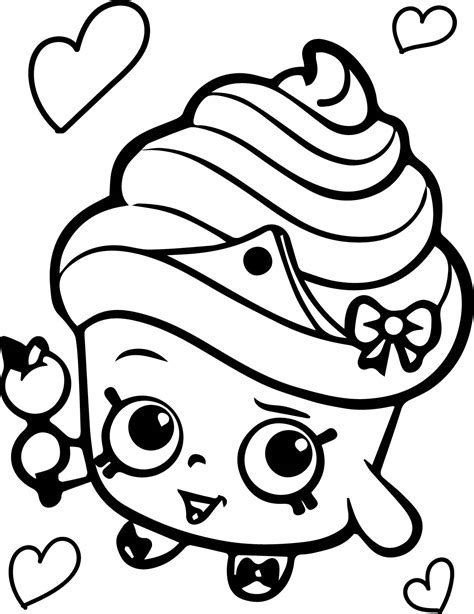 Shopkins Coloring Pages Cupcake Queen | shopkins cupcake queen coloring page wecoloringpage