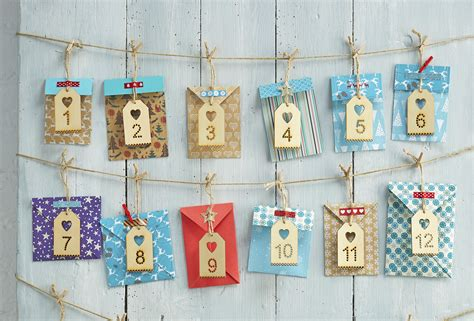 how to make an advent calendar how to make an envelope advent calendar hobbycraft