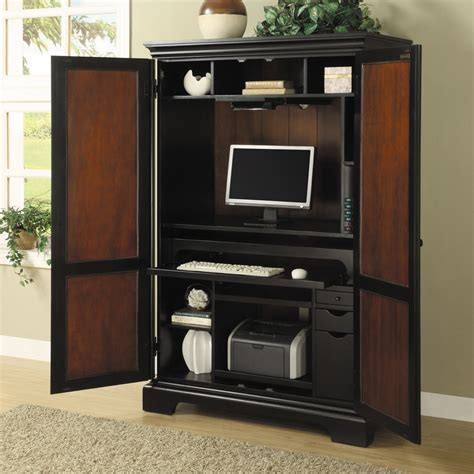 Armoire With Desk by Computer Cabinet Armoire Desk Workstation Images