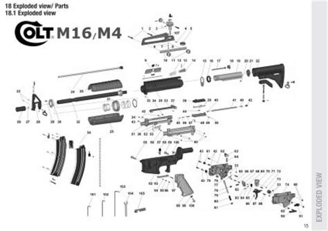 6 best images of m4 parts diagram m4 carbine parts