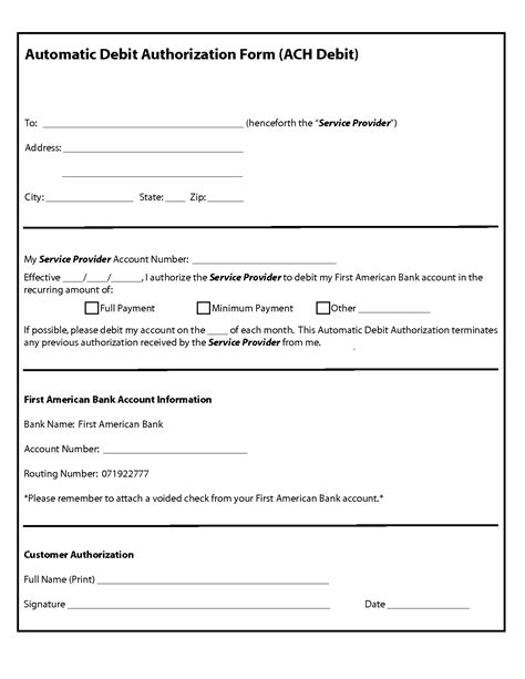 authorization form template masir
