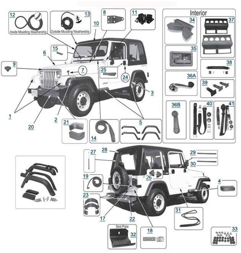 2004 jeep wrangler parts diagram 22 best jeep yj parts diagrams images on jeep
