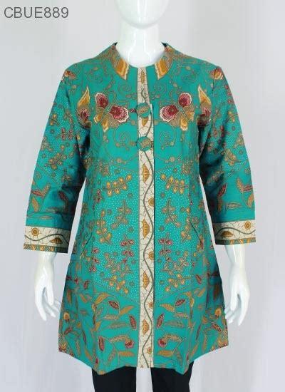 Ch4367 Jumbo Tunik Tarida Batik atasan wanita tunik batik blarak 9016 blus lengan tanggung murah batikunik