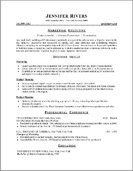 executive sle resume best resume styles exles for your recentresumes