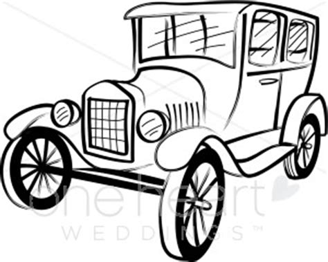 coloring page of model t car model t cartoon clipart best
