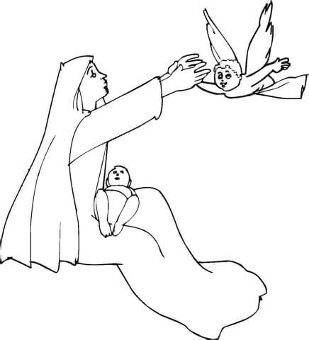free coloring pages of angel visits christ 94 free coloring pages angel and mary jesus visits