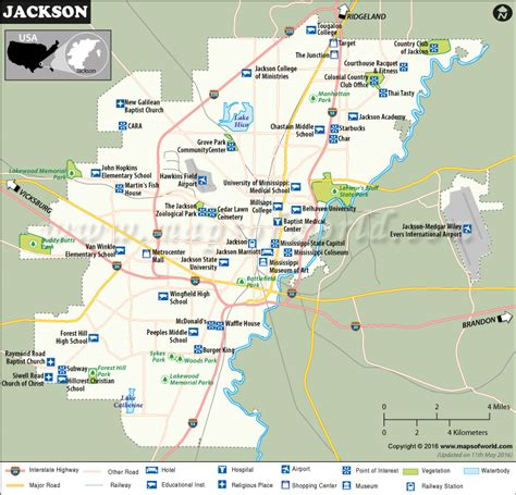 Mba Jackson Ms Directions by Jackson Map Map Of Jackson Capital Of Mississippi