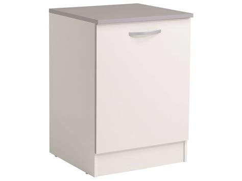 meuble cuisine 60 cm meuble bas 60 cm 1 porte spoon coloris blanc vente de meuble bas conforama