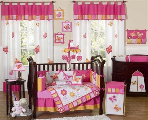 Orange And Pink Crib Bedding Butterfly Pink And Orange 9pc Crib Bedding Collection