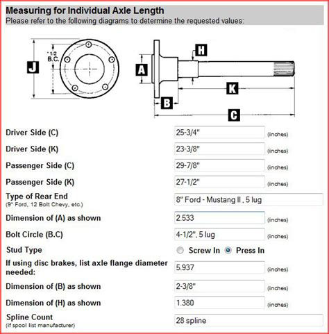 ford bolt pattern bolt pattern guide for all vehicles drivetrain ordering new axles mustang forums at stangnet