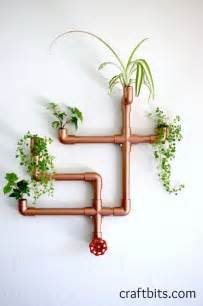 diy copper pvc wall planter home crafts craftbits