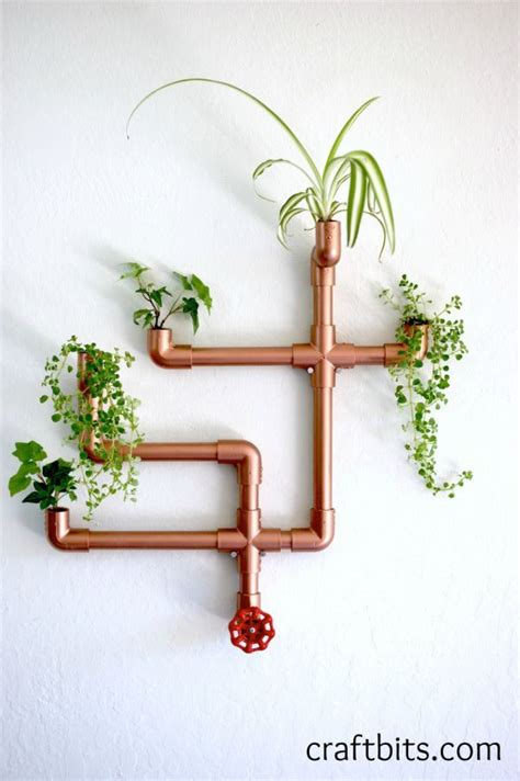 How To Make A Wall Planter by Diy Copper Pvc Wall Planter Home Crafts Craftbits