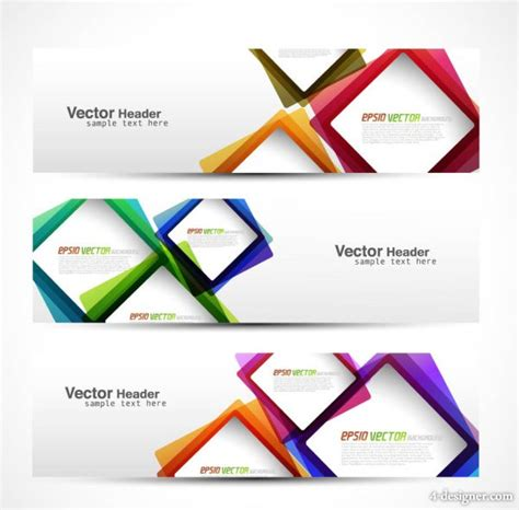 banner designs 4 designer abstract modern graphics banner02 vector