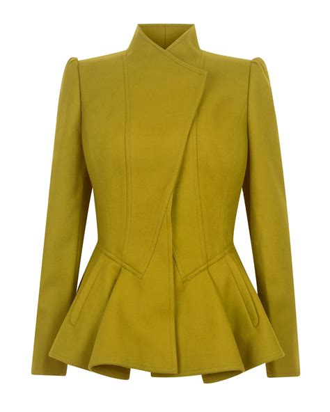 Peplum Jacket ted baker wrenn wool peplum jacket in green lyst