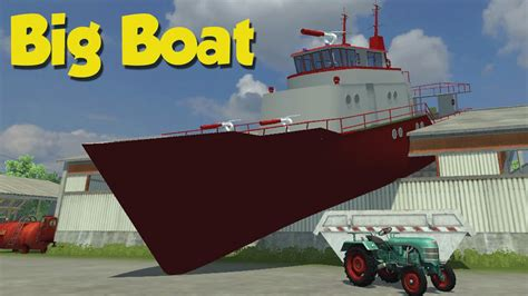 farming simulator boat videos farming simulator 2013 lokomobil and big boats mod