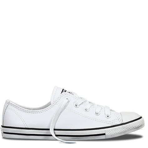 Converse Low Leather chuck all dainty leather low top white