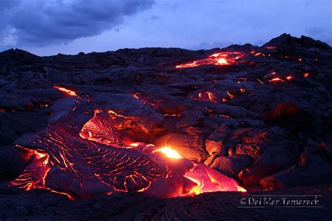 capturing the moment lava flowing into the big