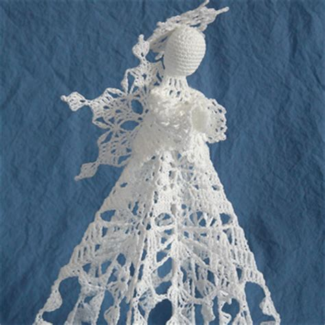 ravelry snowflake angel tree topper pattern  kathryn