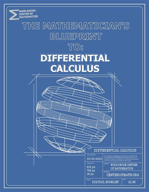 blueprint math the mathematician s blueprint differential calculus