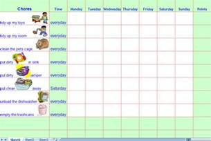 Child Chore List Template by Chore Charts For Printable Chore Charts