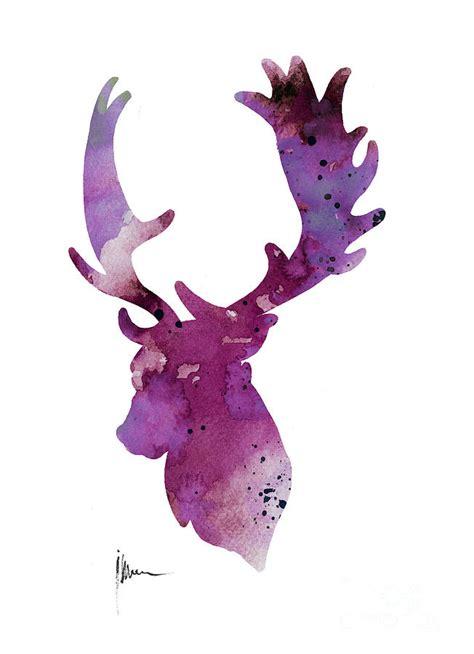 watercolor deer tutorial watercolor deer head www pixshark com images galleries