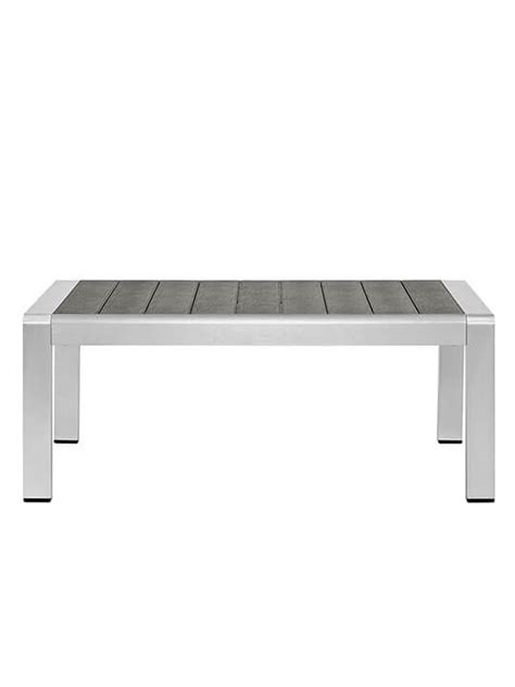 modern outdoor coffee table modern outdoor aluminum wood coffee table modern