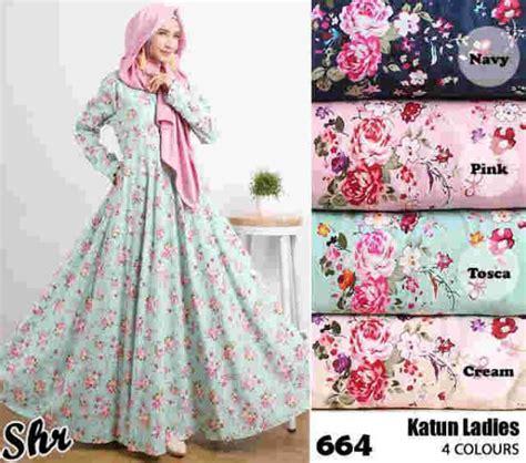 Maxi Dress Kartika Gamis Motif Bunga Gamis Katun Jepang Jumbo Sb gamis katun jepang 664 baju muslim model terbaru